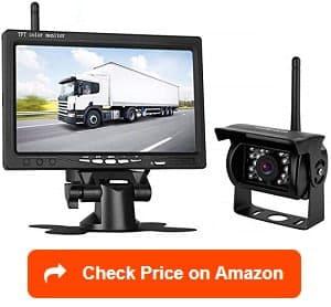 leekooluu wireless backup camera & 7-inch monitor kit