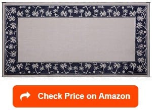 Reversible Mats Outdoor Patio/RV C&ing Mat & 15 Best RV Patio Mats Reviewed and Rated in 2019